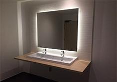 Feyssine 2 Plan vasque dans sanitaires