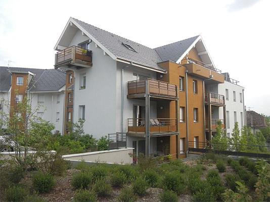 Natureo Menuiseries extérieures PVC  sur bâtiment neuf